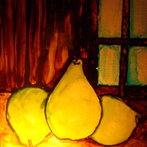 'Pears' Glass Staining