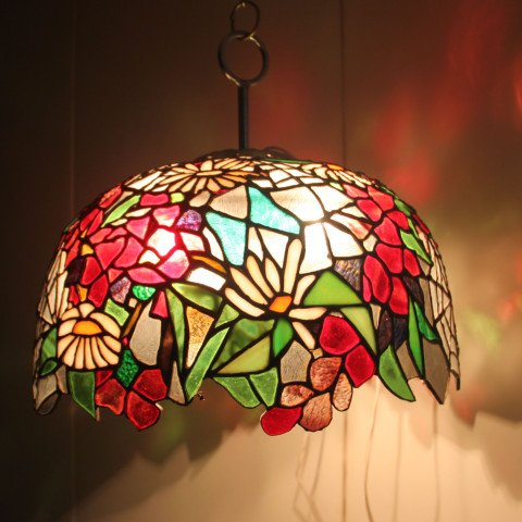 Spring Theme Stained Glass Dome Lamp