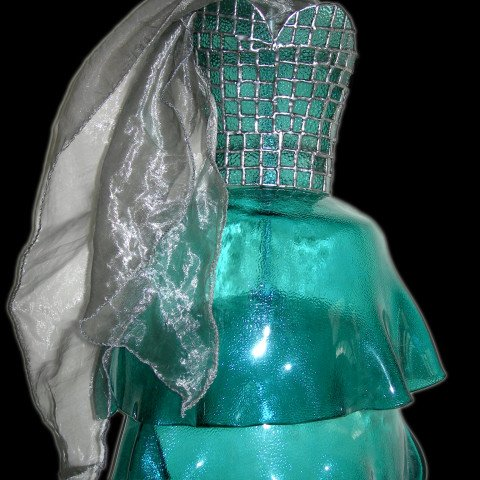 A Glass Dress with a Stained Glass Bodice