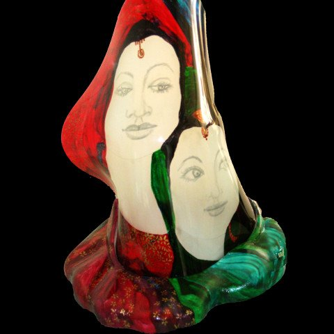 The Sisters, A Slumped Glass Sculpture