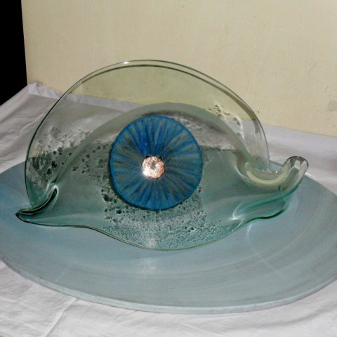 'The All Seeing Eye', Slumped Glass Sculpture