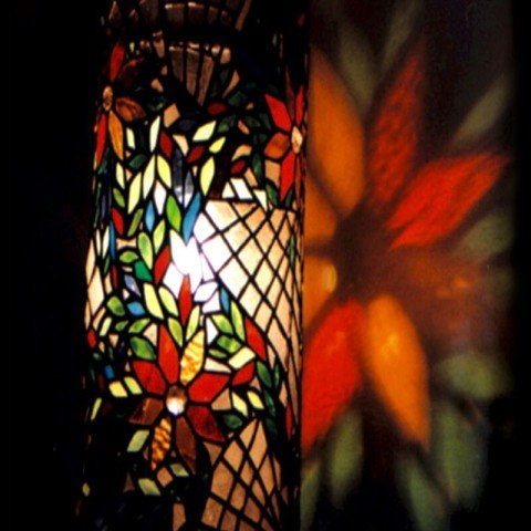 Stained Glass - Piller Lamp