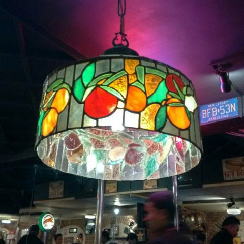 Stained Glass Tomatos Lamp